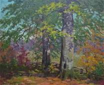 George A Mock 14x18 O/B Autumn Landscape