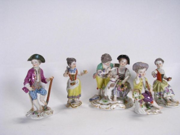 215: Group Of Meissen Porcelain Figurines