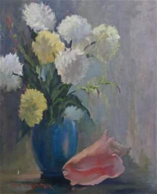 Rena Hostetler 24x20 O/C Floral Still Life