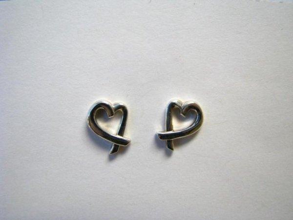 501: Pair of Sterling Tiffany Heart Earrings