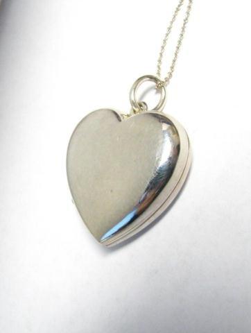502: Tiffany Sterling Heart Locket