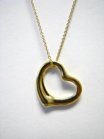 503: Tiffany 18K Yellow Gold Heart Pendant