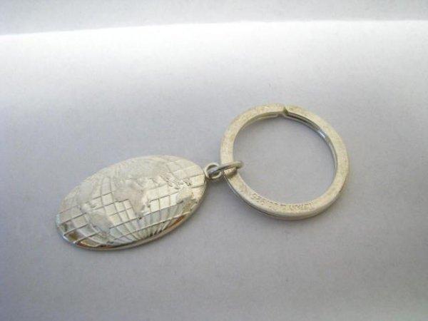 506: Tiffany Sterling Silver World Key Chain