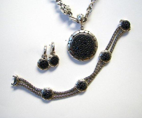 507: John Hardy Necklace, Bracelet and Earrings