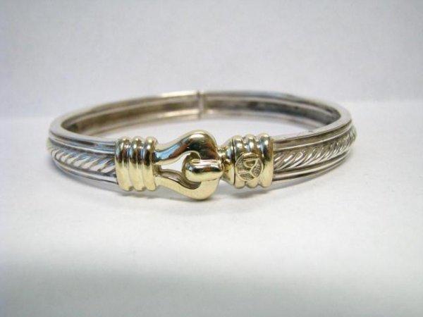 513: David Yurman 14K / Sterling Buckle Bracelet