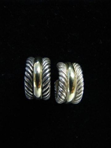 517: David Yurman Sterling & 14K Earrings