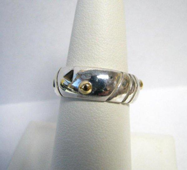 521: John Atencio Sterling/18K Echo Ring