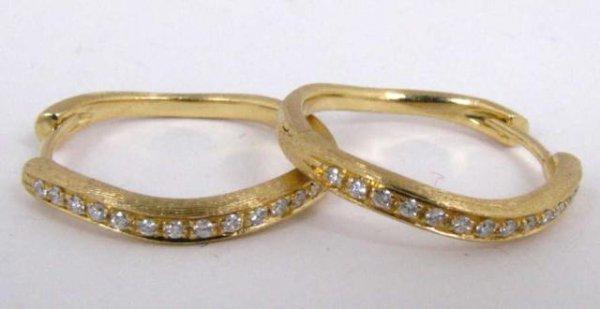 500: Pair of 18K Marco Bicego Diamond Earrings