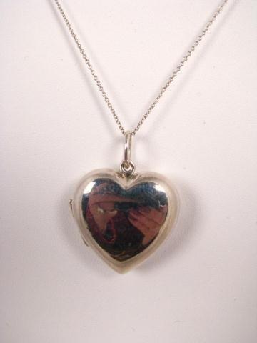 509: Sterling Silver Tiffany Heart Locket