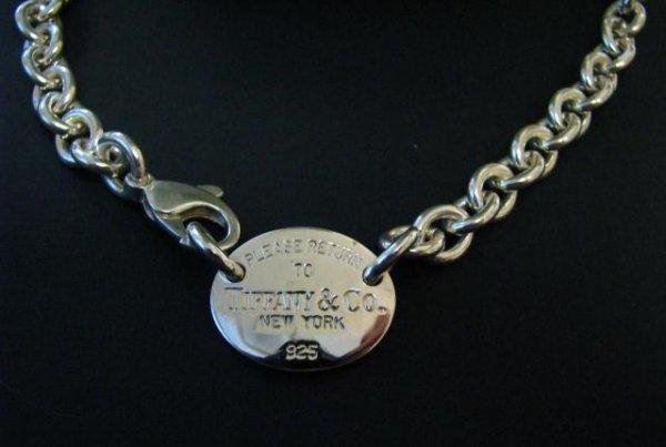 "510: Tiffany Sterling ""Return to Tiffany"" Necklace"