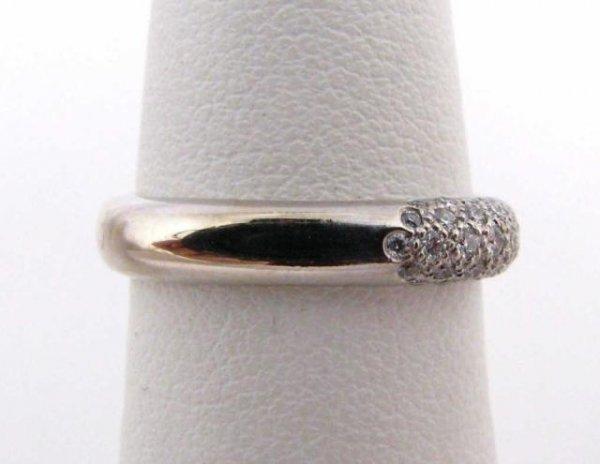511: 18K White Gold Tiffany Diamond Ring
