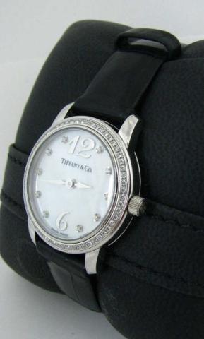 520: Tiffany & Co. Lady's Platinum & Diamond Watch