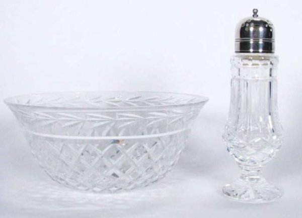 204: Waterford Crystal Bowl and Muffineer