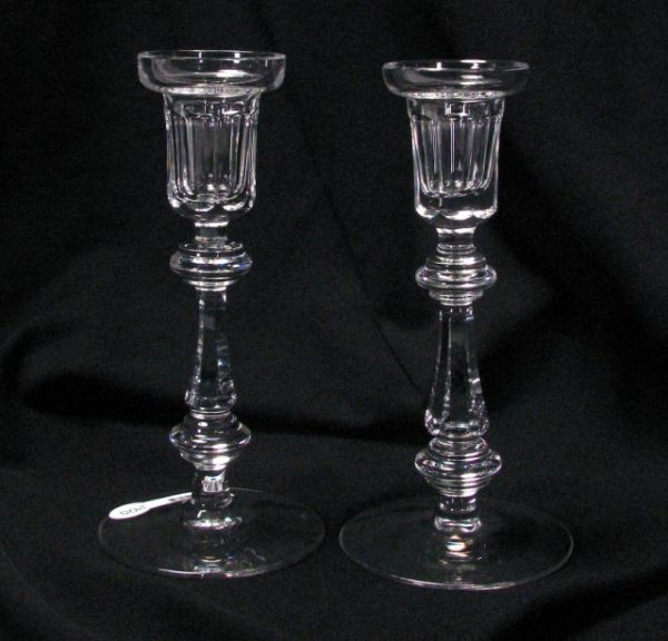 205: Pair of Signed Waterford Crystal Candlesticks