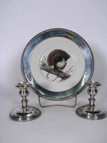 210: Gorham Candle Holders and Whiting Plate