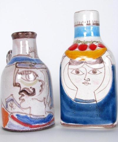 216: Two, Giovanni Desimone Pottery Vases