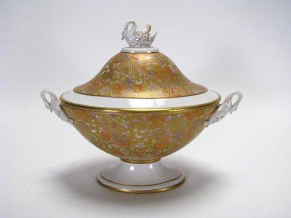 218: Italian Porcelain Lidded Urn