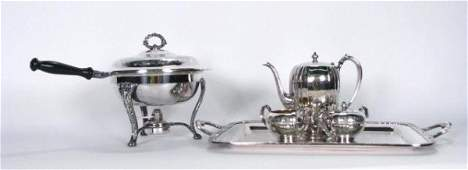 253 Group of Silver Plated Serving Pieces