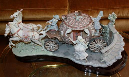 """Lladro Figural Grouping, """"At the Stroke of 12"""""""