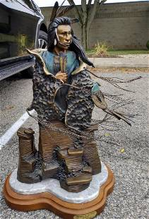 """Jim Jackson Bronze, """"Whispers in the Wind"""""""