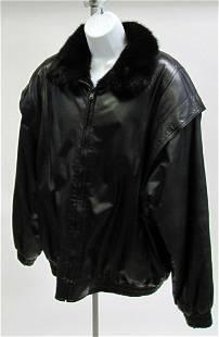 Gents Black Mink Reversible Jacket