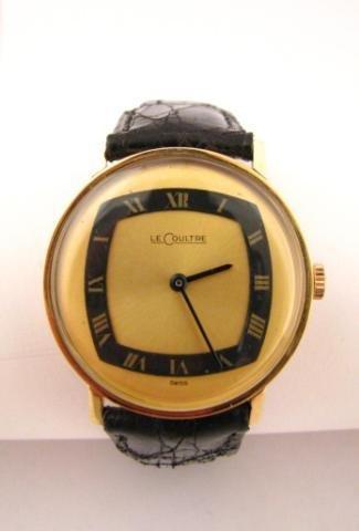 3: Men's Vintage 14K Yellow Gold LeCoultre Wristwatch
