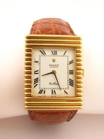 10: Gentleman's Rolex Cellini Watch, Alligator Band