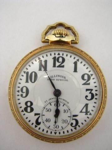 14: Illinois Bunn Special Pocket Watch, 21jwl, 60 hr