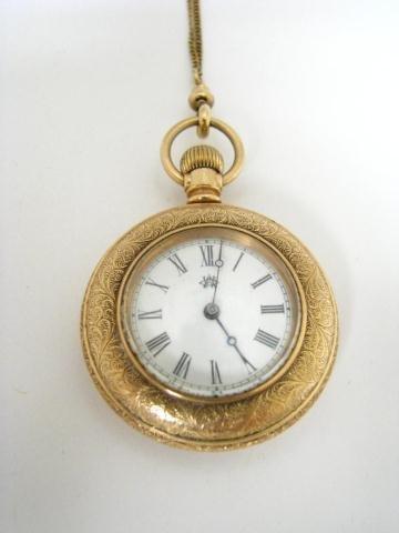 16: Waltham Pocket Watch, 14K Gold-Filled Case