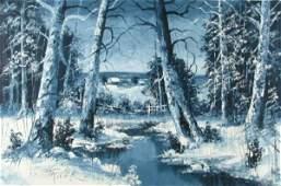 282: J. Trover 24x36 O/C Winter Landscape