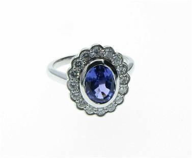 Custom Moyer Fine Jewelry Tanzainte, Diamond Ring