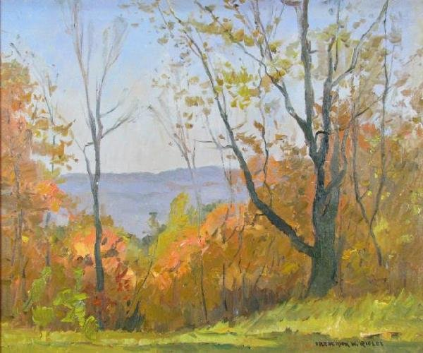 24: Frederick Rigley 25x30 O/C Brown County Overlook