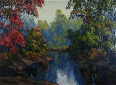 27: JW Hardrick 22x30 O/B Autumn Landscape