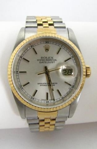 152: Gentleman's 14K and Stainless DateJust Rolex