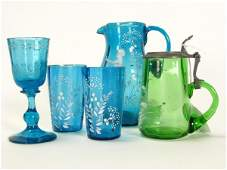 353: Group of Victorian Colored Glass