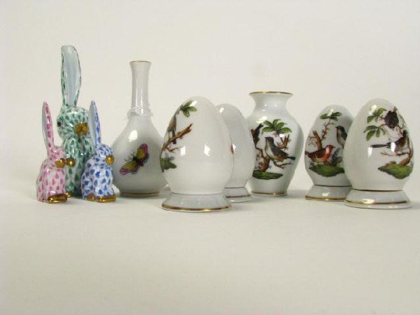 362: Group of Herend Porcelain Miniatures