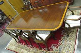 428: Period Style Mahogany Dining Room Group, 8 chairs