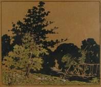 590 GH Baker 75x9 MM Railroad Bridge Landscape