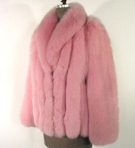 11: Pink Dyed Fox Jacket