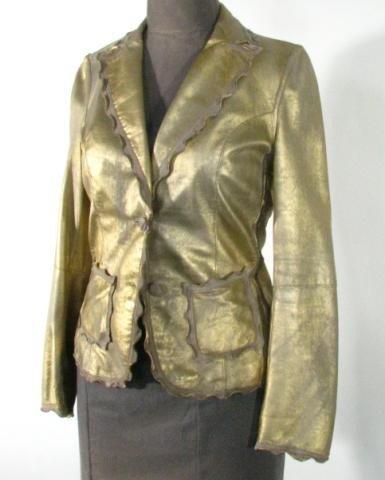 "65: Gold Leather Jacket  ""Italian Gimos"""