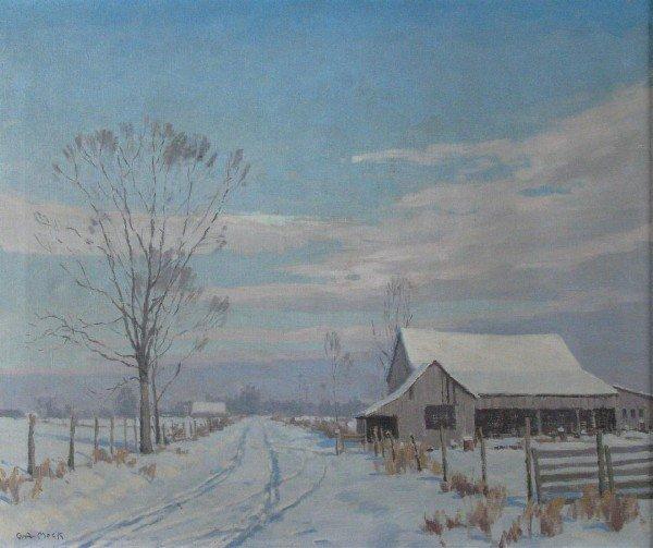 "201: GA Mock 25x30 O/C ""The Lonesome Road"""