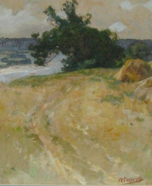 203: William Forsyth 15x12 WC Field Along the River