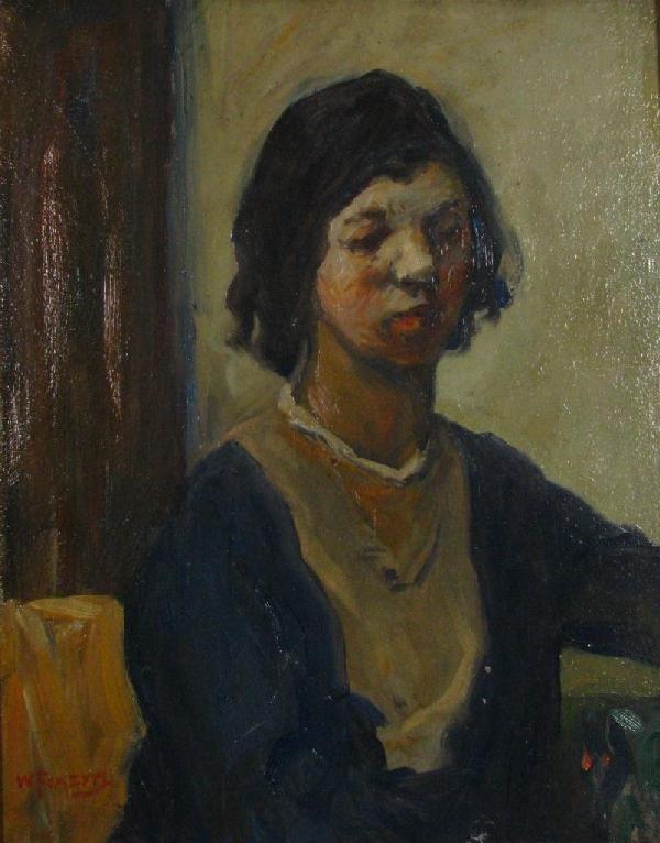 204: Wm Forsyth 20 x 16 O/B Portrait of Connie