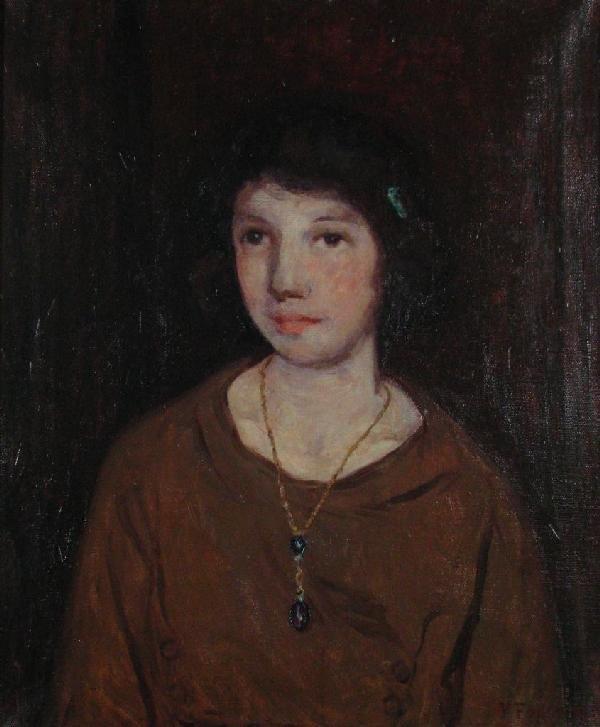 205: William Forsyth 24x20 O/C Portrait of Connie