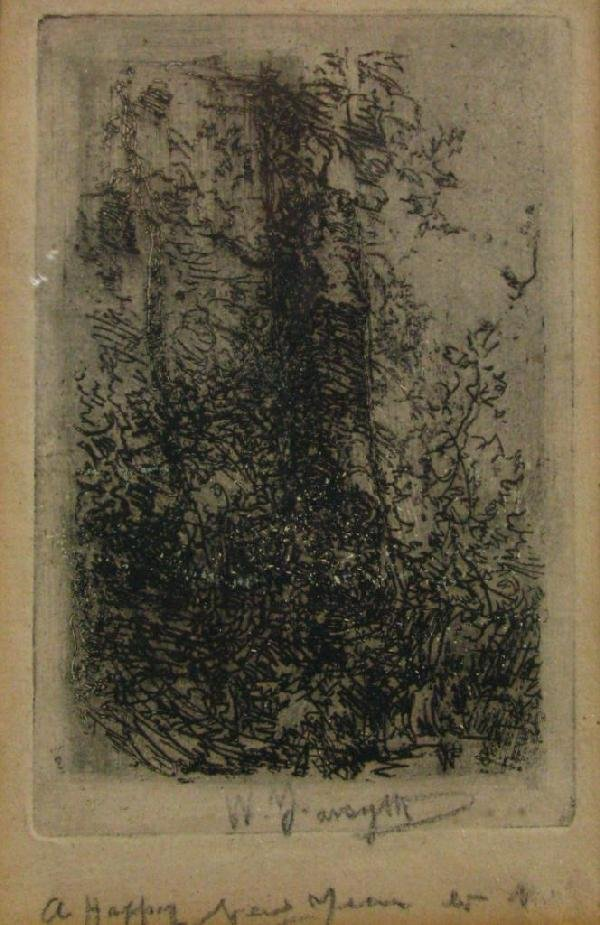 """208: William Forsyth 4.5x3 Engraving """"A Happy New Year"""""""