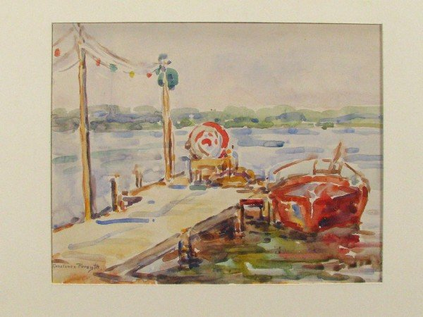 209: Constance Forsyth 11x14 Watercolor Boardwalk with