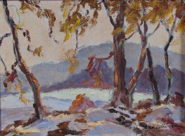 213: Georges LaChance 5.5x7.5 O/B Late Autumn