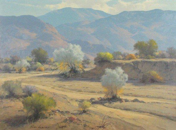 231: Karl Albert 17x23 O/B 'Smoke Tree Wash'