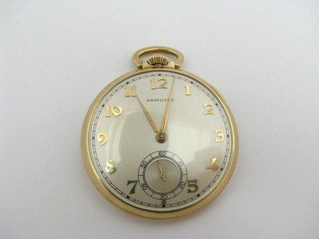 4: 14K Yellow Gold Hamilton Pocket Watch