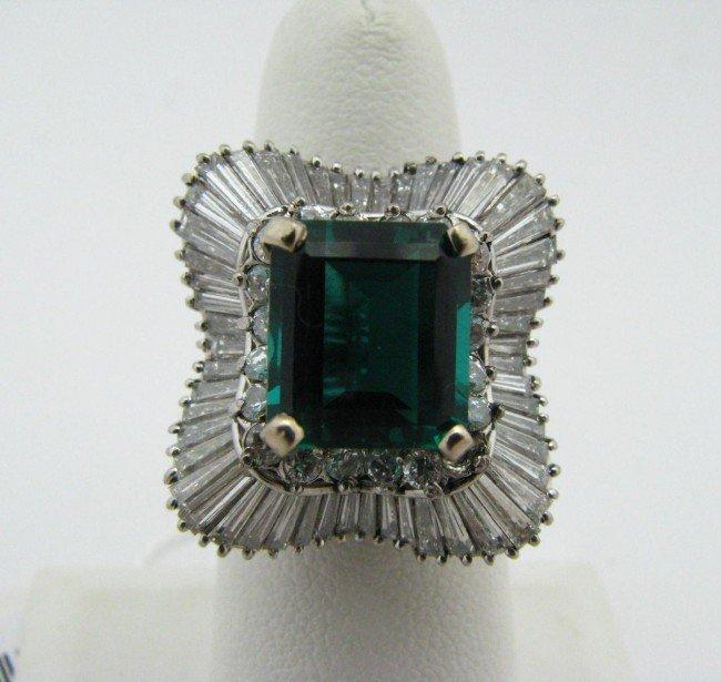11: Platinum, 5cts Diamond Ballerina Ring